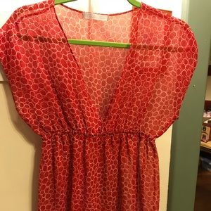 Charlotte Russe sheer blouse. S/m . Wear w/a cami
